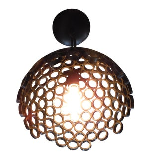 Dome Light Pendant For Sale