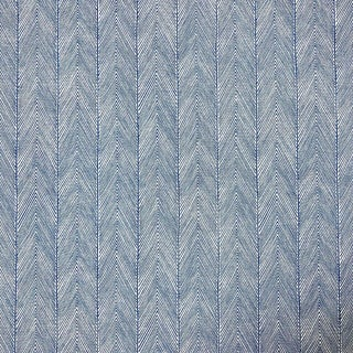 Transitional John Stefanidis Herringbone Cotton Designer Fabric by the Yard For Sale