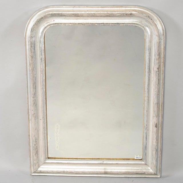 19th Century Louis Philippe Silver Gilt Mirror For Sale - Image 12 of 12