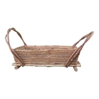 Decorative Adirondack Twig Basket For Sale