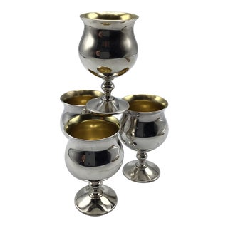 Vintage Sheridan Silver Plated Aperitif/Port Miniature Goblets-Set of 4 For Sale