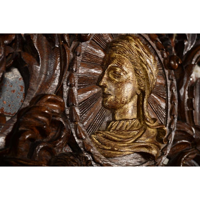 Antique Rococo Carved Wood Wall Panel For Sale - Image 9 of 11