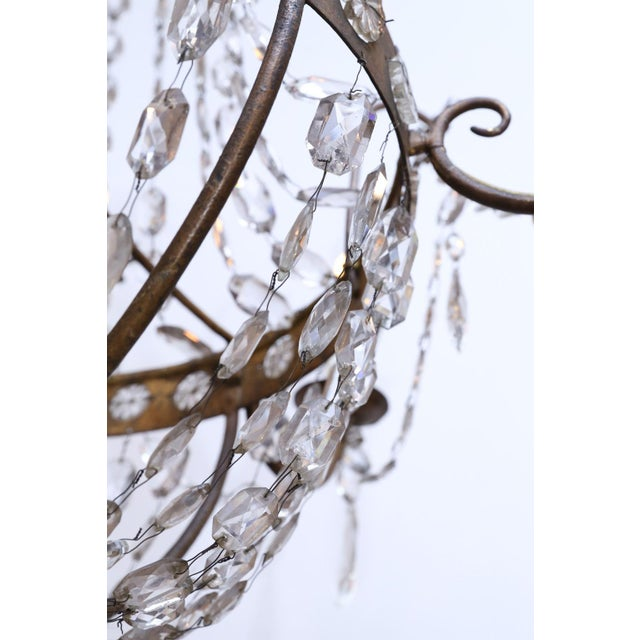 19th Century Neoclassical Gilt-Iron Chandelier For Sale - Image 11 of 13