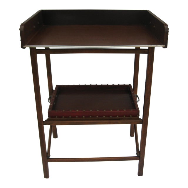 Mid-Century Collapsable Bar Cart - Image 1 of 9