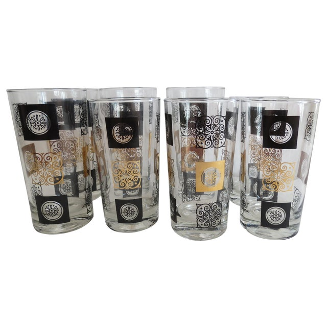 Mid-Century Modern Highball Glasses - Set of 8 - Image 1 of 7