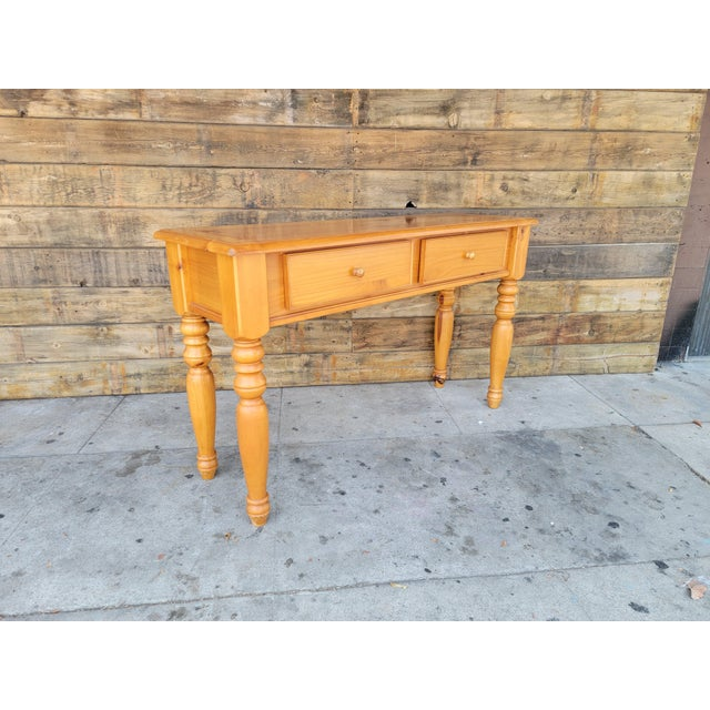 Rustic 1980s Rustic Console Table with Drawers For Sale - Image 3 of 13