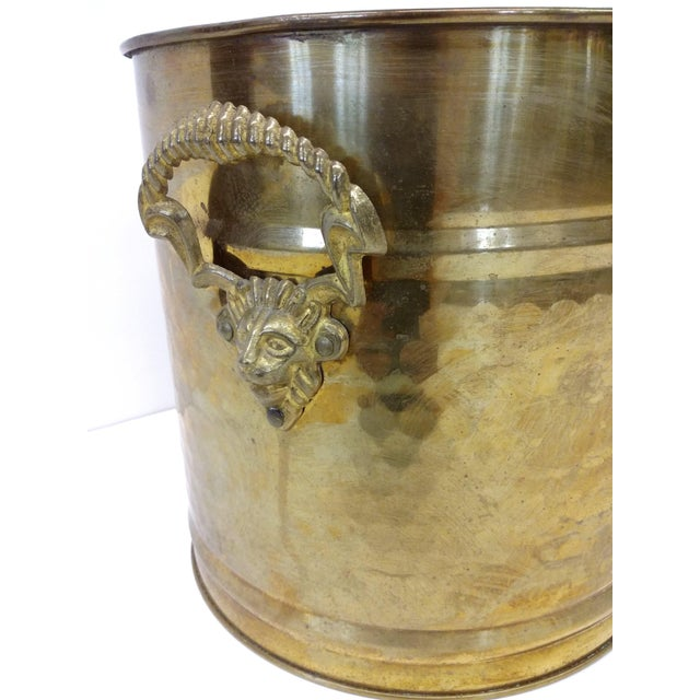 Brass Lion Head Handle Planter - Image 3 of 9