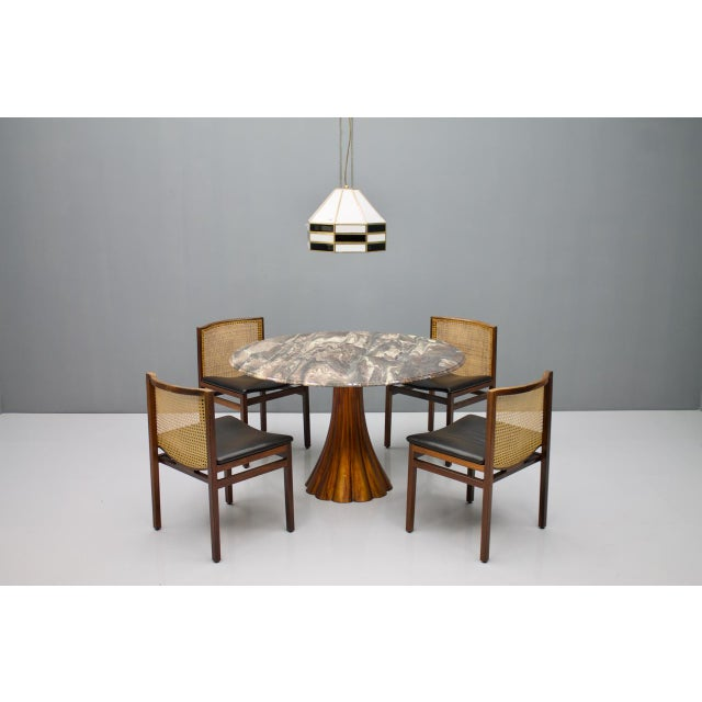 Fantastic Tulip Marble Dining Table Cast Metal Italy 1960s For Sale - Image 9 of 13