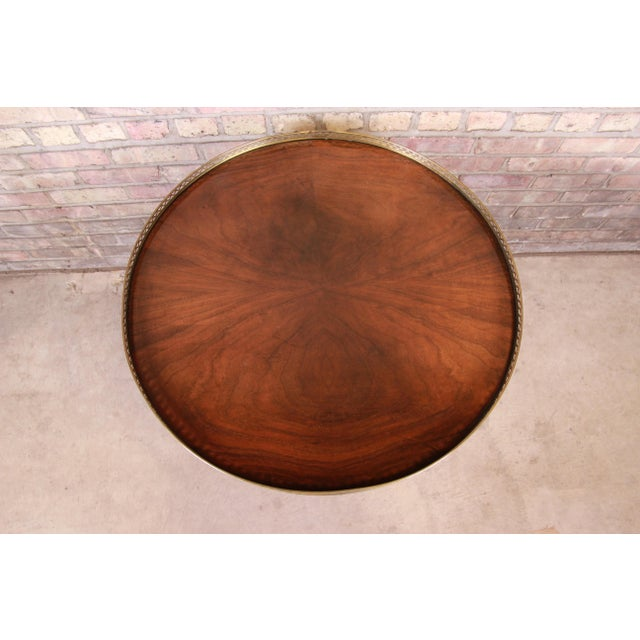 Baker Furniture French Regency Louis XVI Walnut Tea Table For Sale In South Bend - Image 6 of 13