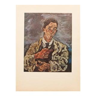 Oskar Kokoschka, Original Self-Portrait Swiss Period Lithograph, C. 1940s For Sale
