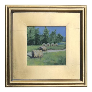 Spring Landscape Framed Painting For Sale