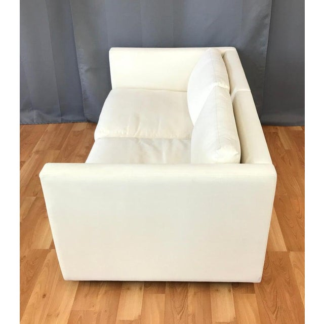 2000 - 2009 Charles Pfister for Knoll Settee in Off-White Canvas For Sale - Image 5 of 13