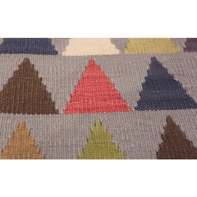 Mid-Century Modern Vintage Swedish Kilim For Sale - Image 3 of 8