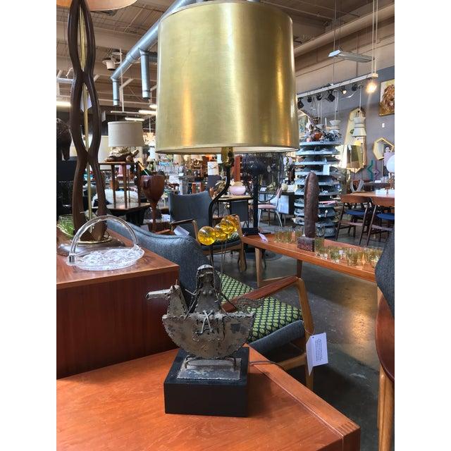Whimsical Mid Century Modern Brutalist Lamp.