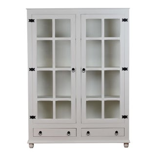 Sienna White Curio China Cabinet