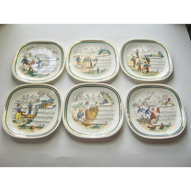 Vintage French Opera Plates With Different Scores & Scenes - Set of 6 For Sale In Providence - Image 6 of 6