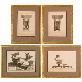 Greek Copper Plate Engravings - Set of 4 For Sale