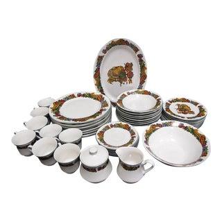 American Atelier Pilgrims Harvest 8 Piece Place Setting Dinnerware - 44 Pieces For Sale