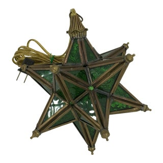 Green Moroccan Moravian Light For Sale