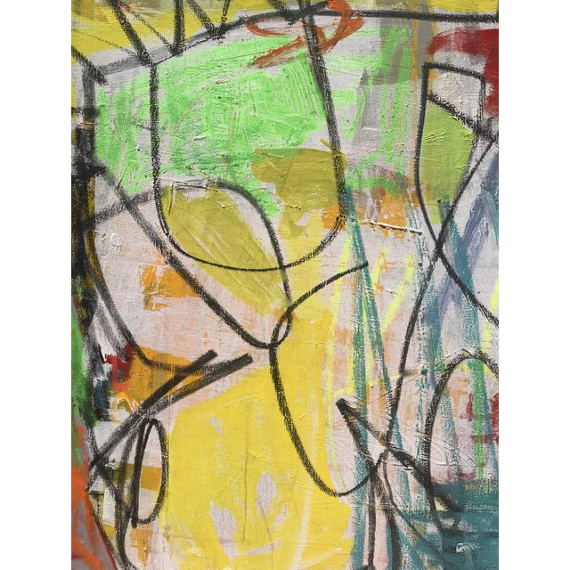 "2010s ""Takes Village"" Contemporary Abstract Painting For Sale - Image 5 of 8"