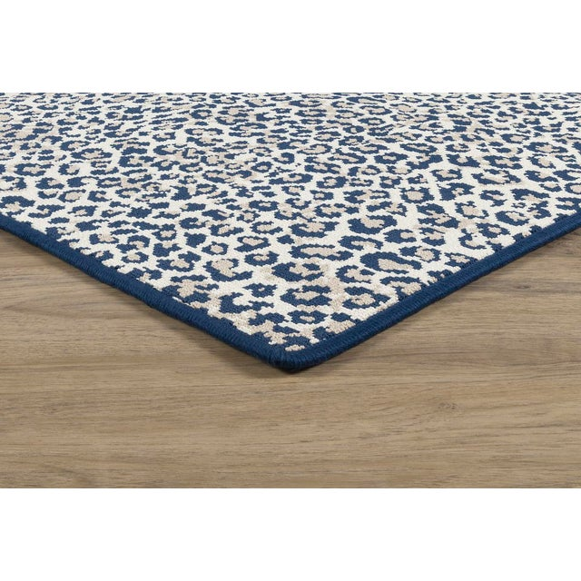 "Stark Studio Rugs, Wildlife, Cobalt, 2'6"" X 7' For Sale - Image 6 of 8"