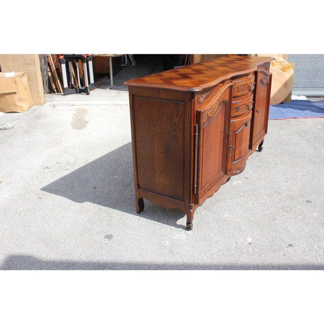 1900s French Country Solid Oak Sideboard / Buffet For Sale - Image 11 of 13