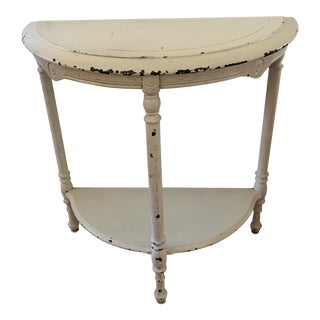 Boho Shabby Vintage Paris Apt Accent Table For Sale