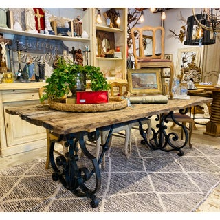 Antique Spanish Oak & Iron Dining Table Preview