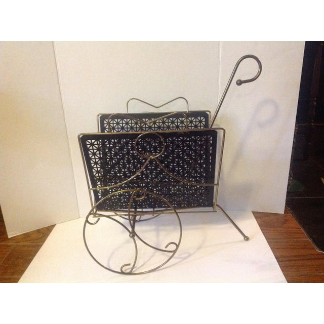 Mid Century Modern Mesh Magazine Basket Decor For Sale In Cleveland - Image 6 of 6