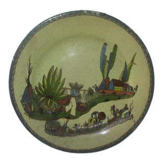 Vintage Mexican Tlaquepaque Charger, Signed Arias For Sale