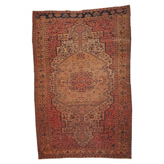 Antique Persian Farahan Rug - 4′3″ × 6′8″ For Sale