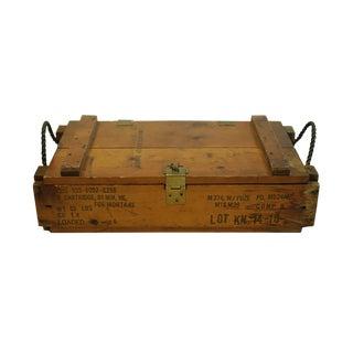 Ww11 Wooden Mortar Cartidge Box, Circa 1940s