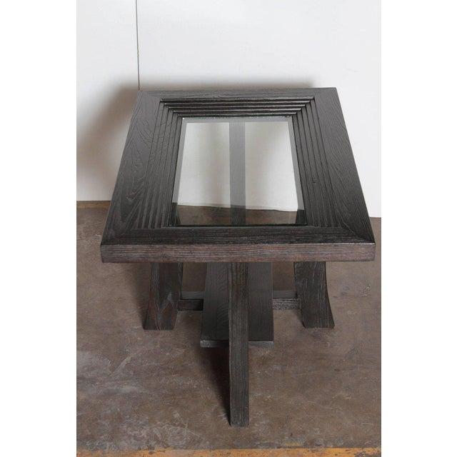 Brown Post Art Deco Cerused Oak Side Table by Brown Saltman Paul Frankl For Sale - Image 8 of 11