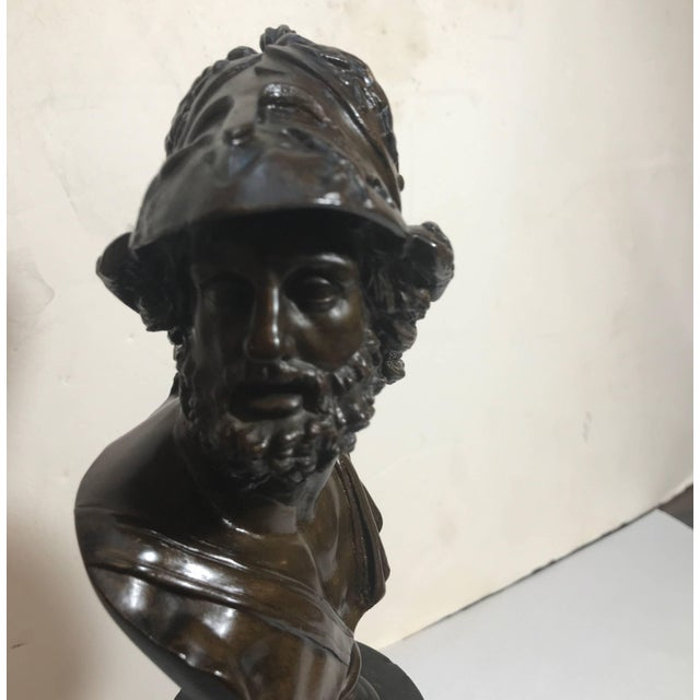 Grand Tour French Bronze Bust of Ajax For Sale - Image 4 of 10