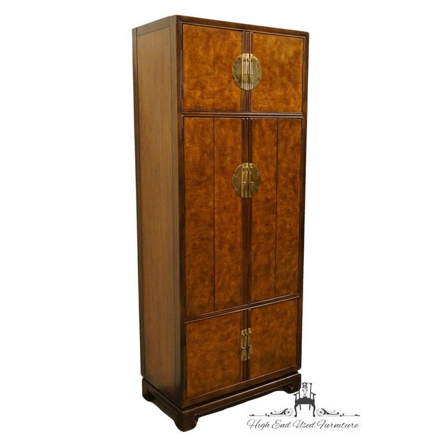 Asian Late 20th Century Vintage Drexel Tai Ming Collection Asian Chinoiserie Cabinet For Sale - Image 3 of 13