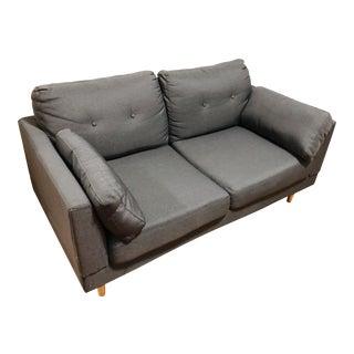 Mid-Century Modern Linen Sofa