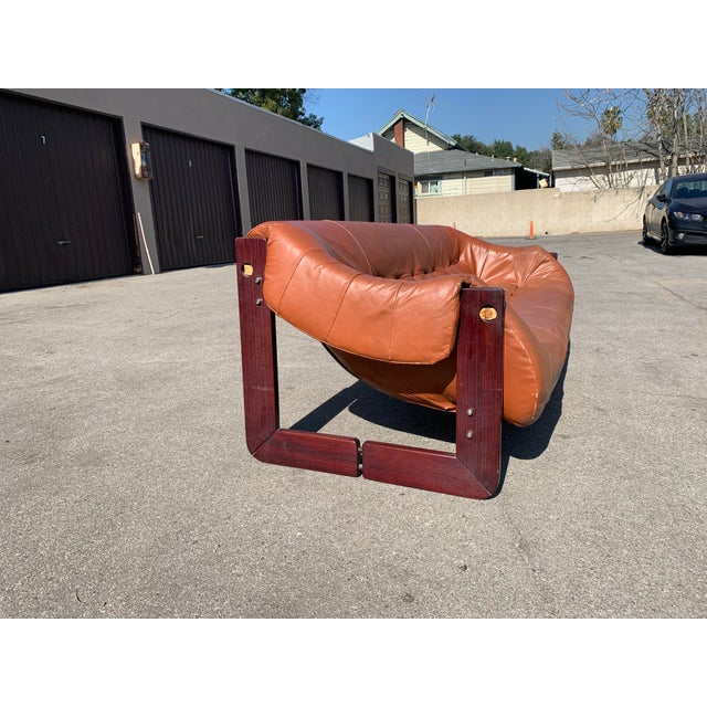 Wood Mid-Century Percival Lafer Brazilian Leather Sofa For Sale - Image 7 of 13