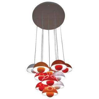 1968 Verner Panton Flower Pot Hanging Lamp, Manufactured by Louis Poulsen For Sale