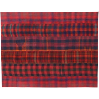 Vintage Plaid Kilim Area Rug With Luxury Lodge Style and Timeless Tartan Charm 8'5 X 12' For Sale