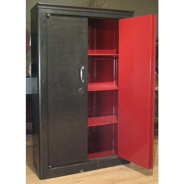 Black Antique French Steel Safe Cabinet For Sale - Image 8 of 8