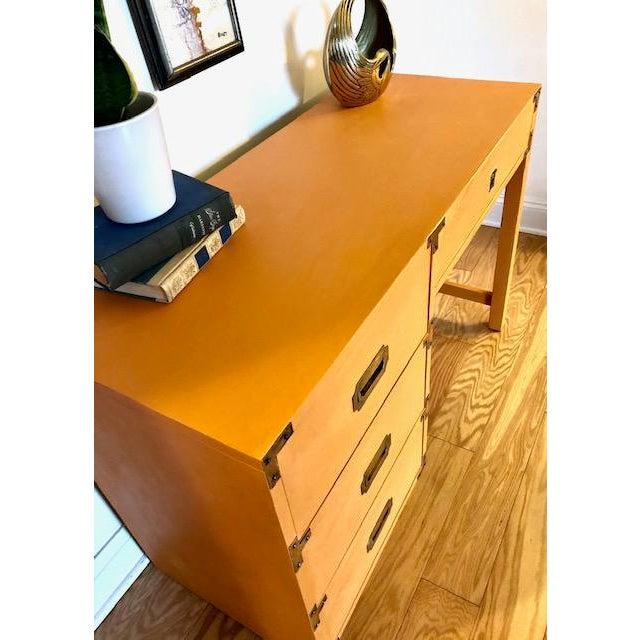 Bernhardt 1960s Campaign Bernhardt Writing Desk For Sale - Image 4 of 7
