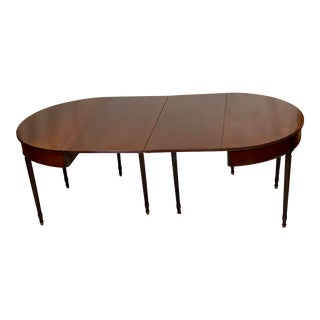 Vintage Mahogany Regency Drop Leaf Banquet Dining Tables - Pair For Sale