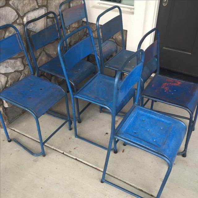 Vintage Bali Metal Garden Chairs - Set of 7 - Image 6 of 7