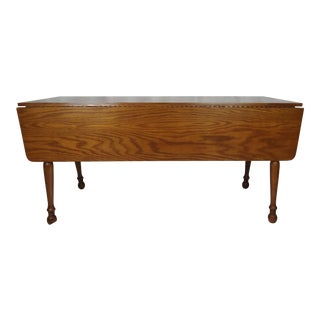1970s Traditional Wood Expandable Dining Table For Sale