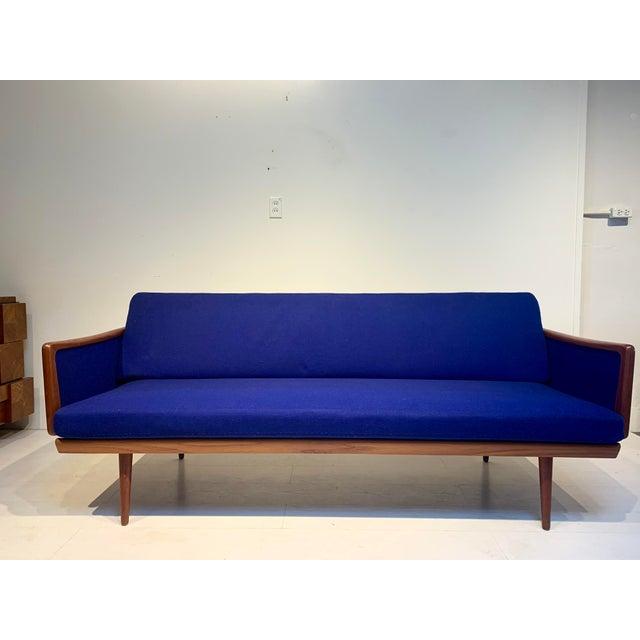 Mid Century Modern Peter Hvidt and Orla Mølgaard for John Stuart Teak & Cane Back Sofa For Sale - Image 13 of 13