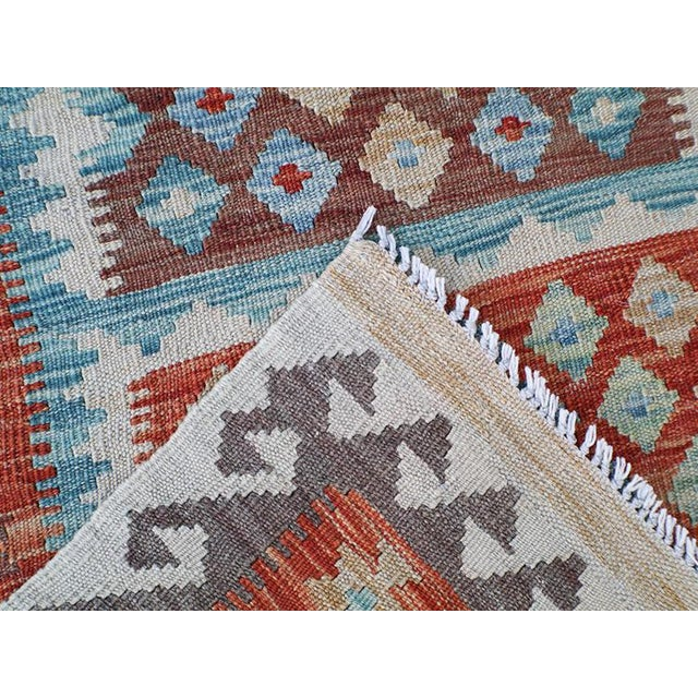 Handmae Vegetable Dyed Kilim Runner- 2′9″ × 9′6″ - Image 5 of 5