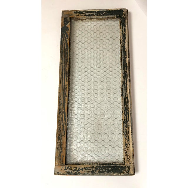 Late 19th Century 1890s Vintage Salvaged Police Station Chicken Wire Windows - a Pair For Sale - Image 5 of 13