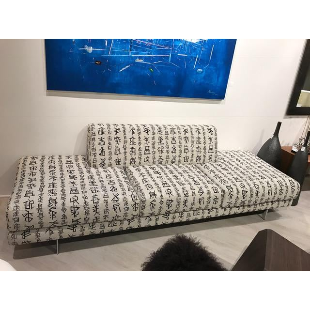 A one of a kind Aung Taik artist/designer Monti sofa by DellaRobbia. Perfect for an entry pice. Floating with a sofa or...