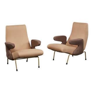 "Pair of ""Delfino"" Armchairs by Erberto Carboni Manufactured by Arflex"