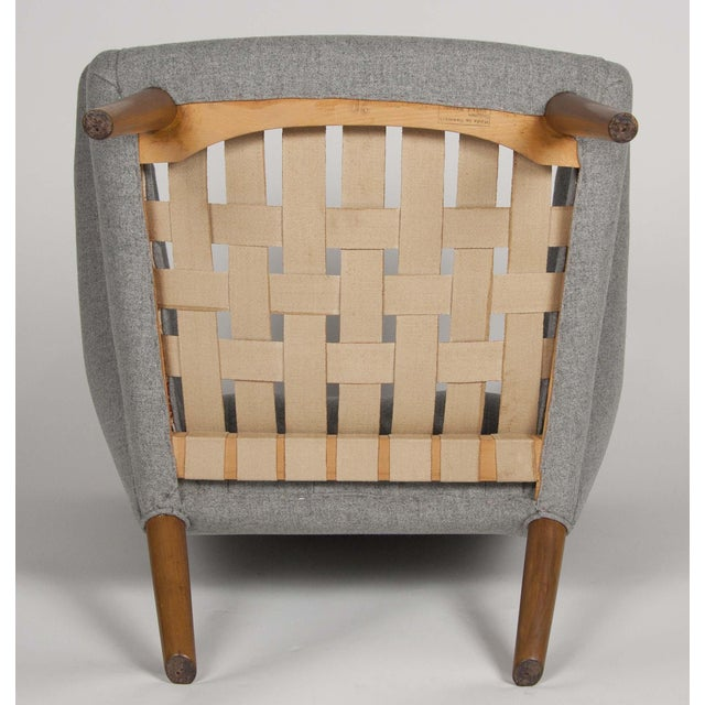Brown A Hans Wegner Papa Bear Chair With Stool Produced by a.p. Stolen For Sale - Image 8 of 10